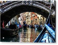 Venice Italy Gondola - Ride Through Canal Acrylic Print