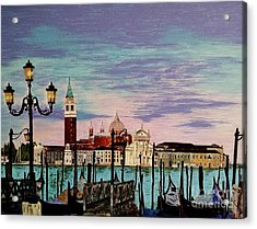 Acrylic Print featuring the painting Venice  Italy By Jasna Gopic by Jasna Gopic