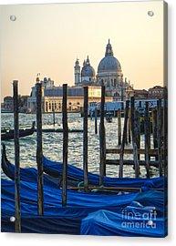 Venice Italy - Santa Maria Della Salute And Gondolas Acrylic Print by Gregory Dyer