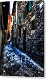 Venice Italy Silhouette - Lonely Walk Acrylic Print
