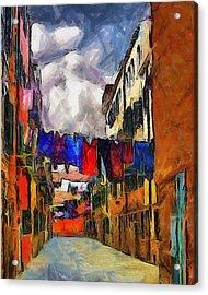 Venice Laundry 2 Acrylic Print by Cary Shapiro