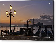 Acrylic Print featuring the photograph Venice Night Lights by Marion Galt