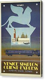 Venice Orient Express Acrylic Print