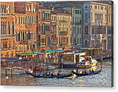 Venice Palazzi At Sundown Acrylic Print