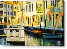 Venice Remembered Acrylic Print by Ron Richard Baviello