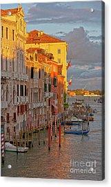 Venice Romantic Evening Acrylic Print by Heiko Koehrer-Wagner