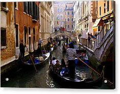 Acrylic Print featuring the digital art Venice by Ron Harpham