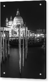 Venice Santa Maria Della Salute In Black And White Acrylic Print