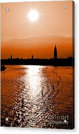 Venice Sunset  Acrylic Print by Leo Symon