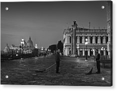 Acrylic Print featuring the photograph Venice Sweepers by Marion Galt