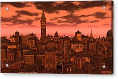 Venice - Vampire Sky Acrylic Print by Amanda Holmes Tzafrir