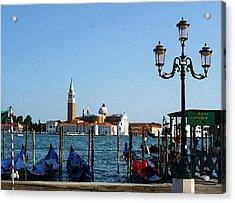Venice View On Basilica Di San Giorgio Maggiore Acrylic Print by Irina Sztukowski