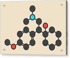 Venlafaxine Antidepressant Drug Molecule Acrylic Print
