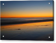 Ventura Beach Evening Acrylic Print by Catherine Lau