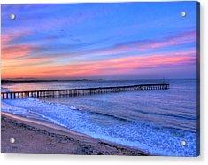 Ventura Beach Pier Acrylic Print by Walt Miller
