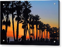 Acrylic Print featuring the photograph Ventura Boardwalk Silhouettes by Lynn Bauer