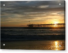 Acrylic Print featuring the photograph Ventura Pier 01-10-2010 Sunset  by Ian Donley