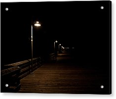 Ventura Pier At Night Acrylic Print by John Daly