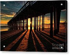 Ventura Pier At Sunset Acrylic Print