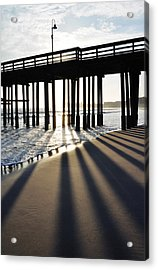 Acrylic Print featuring the photograph Ventura Pier Shadows by Kyle Hanson
