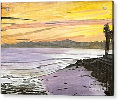 Acrylic Print featuring the painting Ventura Point At Sunset by Ian Donley