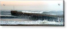 Ventura Storm Pier Acrylic Print