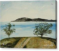 Ventura's Two Trees With Santa Cruz  Acrylic Print