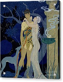 Venus And Adonis  Acrylic Print by Georges Barbier