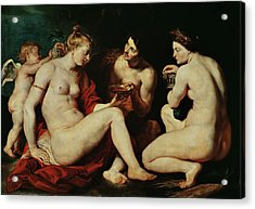 Venus, Cupid, Bacchus And Ceres Acrylic Print