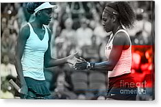 Venus Williams And Serena Williams Acrylic Print by Marvin Blaine