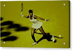 Venus Williams In Action Acrylic Print by Brian Reaves