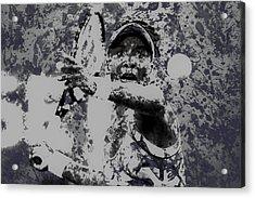 Venus Williams Paint Splatter 2e Acrylic Print by Brian Reaves