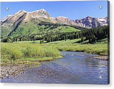 Verdant Valley Acrylic Print by Eric Glaser