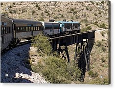 Verde Canyon Railway On Trestle Acrylic Print