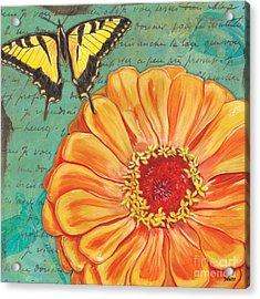 Verdigris Floral 1 Acrylic Print