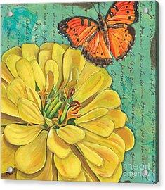 Verdigris Floral 2 Acrylic Print by Debbie DeWitt