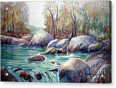 Verdon Gorge Acrylic Print