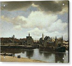 Vermeer, Johannes 1632-1675. View Acrylic Print by Everett