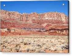 Vermillion Cliffs Colors Acrylic Print by Bob and Nancy Kendrick