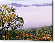Acrylic Print featuring the photograph Vermont Autumn Morning by Alan L Graham