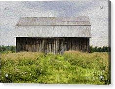 Vermont Barn In Oil Acrylic Print