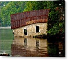 Acrylic Print featuring the photograph Vermont Boathouse by John Haldane