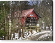 Vermont Covered Bridge - Stowe Vermont Acrylic Print by Joann Vitali