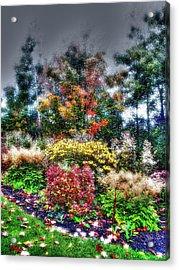 Vermont Fall Garden Acrylic Print
