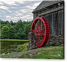 Vermont Grist Mill Acrylic Print by Edward Fielding