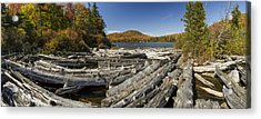 Vermont Kettle Pond Panorama Autumn Forest Acrylic Print by Andy Gimino