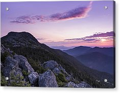 Vermont Mount Mansfield Sunrise Green Mountains Acrylic Print by Andy Gimino
