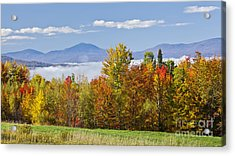 Vermont October Morning Acrylic Print by Alan L Graham