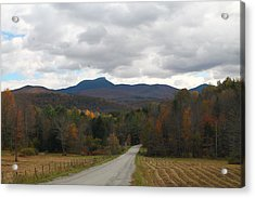 Acrylic Print featuring the photograph Vermont Road by Alicia Knust