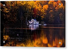 Vermont Route14 Pond Acrylic Print
